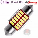 Festoon Led COB 31mm / 36mm / 39mm / 42mm 12 Chips 12v