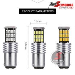 Ampolleta T20-5050-7443 19Led Canbus Blanco