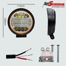 Ampolleta Led S25-1156-BA15S 22LED 12V