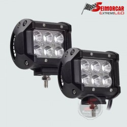 Ampolleta Led S25-1156 7W 12V BA15S Led CREE + Proyector